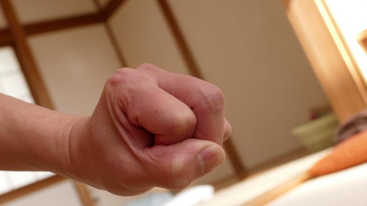 ツボを打つ一本拳