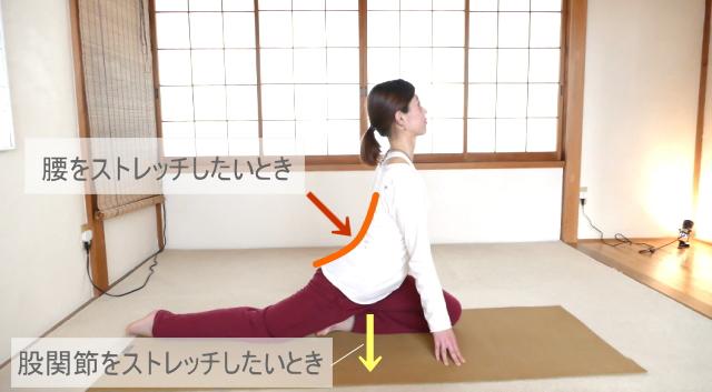 腰と股関節のストレッチ
