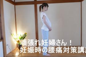 妊婦さんの腰痛対策