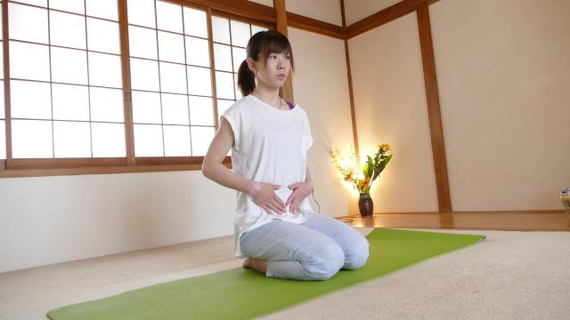 体を柔らかくする腹式呼吸