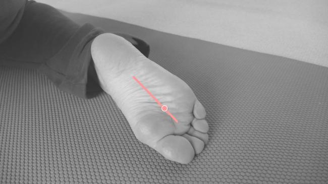 足の裏の疲れを取るツボ