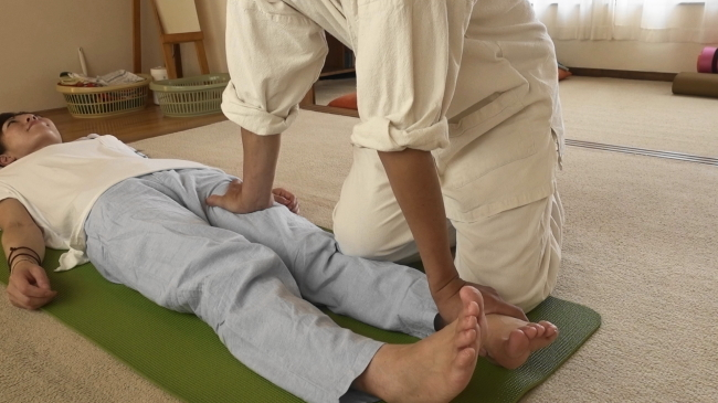 前脛骨筋への施術