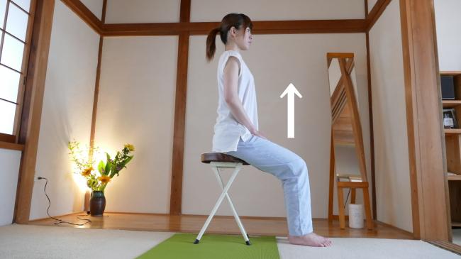 椅子に座っての大腰筋のチェック