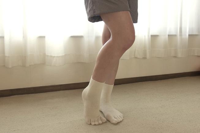 シルクの五本指靴下