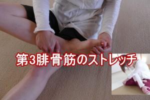 第三腓骨筋のストレッチ